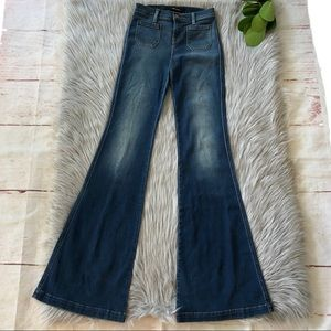 J Brand Demi 802 in Ashbury Wide Leg Jeans 24